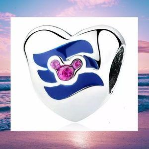 Silver Heart Pink Zirconia Mickey Pandora Bead